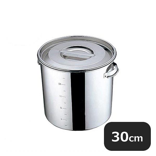 【送料無料】UK 丸 深型キッチンポット(目盛付)30cm(21.0L)(015146)YUKIWA 業務用 大量注文対応