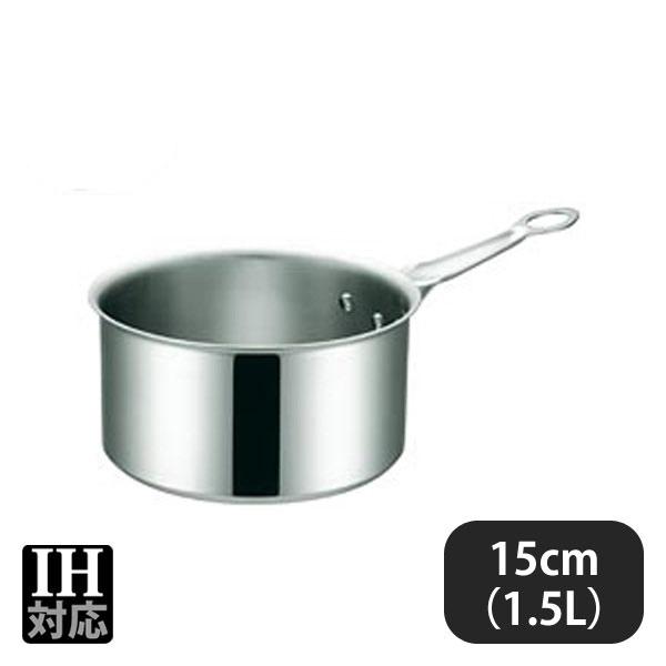 IHマエストロ 3層鋼クラッド シチューパン 15cm(1.5L) (012294) (業務用)