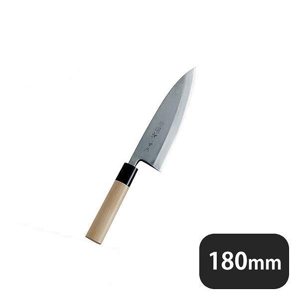 【送料無料】特選神田作 出刃 180mm (129101) [業務用 大量注文対応]