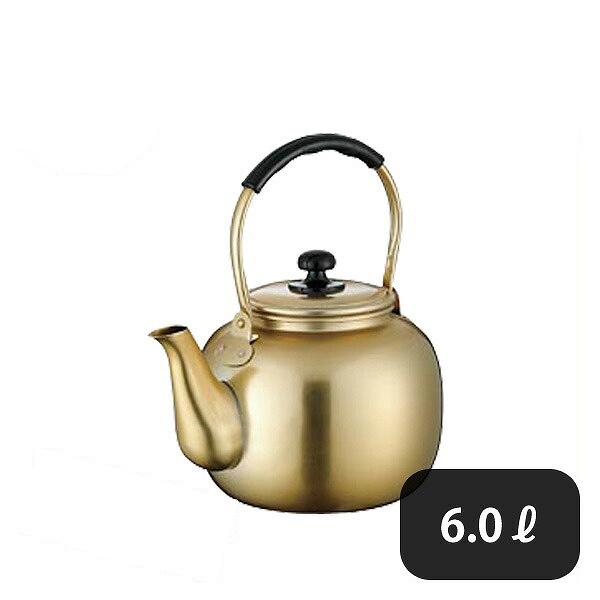 こづち アルマイト湯沸し 6.0L (064113) [業務用 大量注文対応]