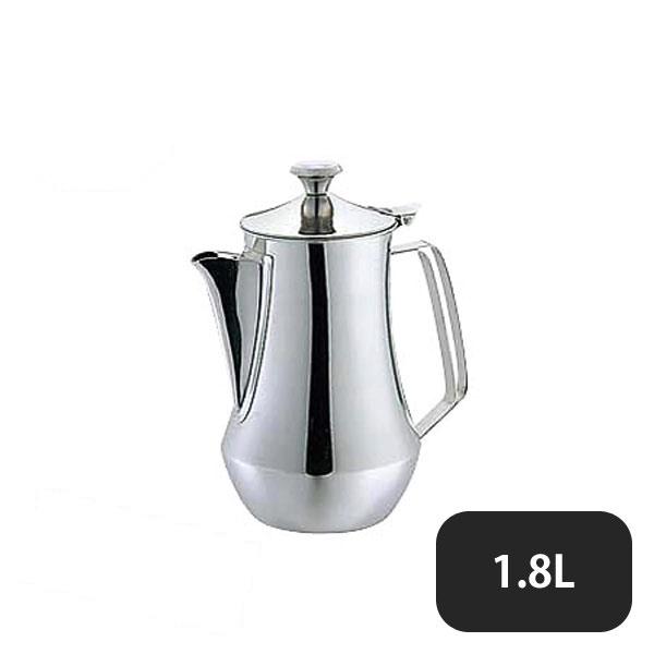 【送料無料】ES 18-8ダイヤ型DXウォーターポット 1.8L (166022) [業務用 大量注文対応]