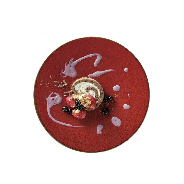 カネスズ ディナープレート27cmディナー(緋深)(6枚セット) (12-17374402)