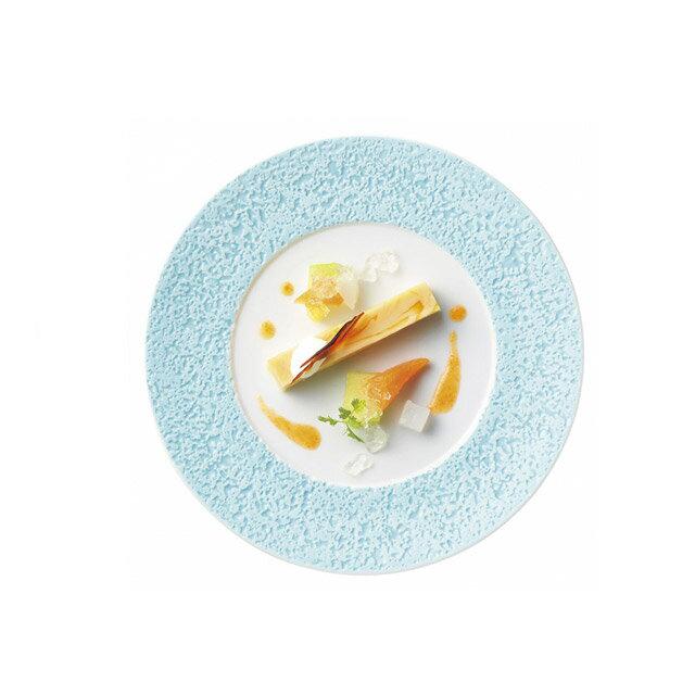 【送料無料】ディナー皿 27cm ブルー 6枚 カネスズ コーラル(17427402)