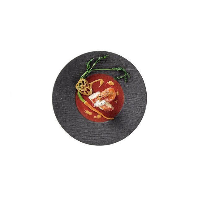 カネスズ ディナープレート朱扇 27cmディナー (6枚セット) (12-28600402)