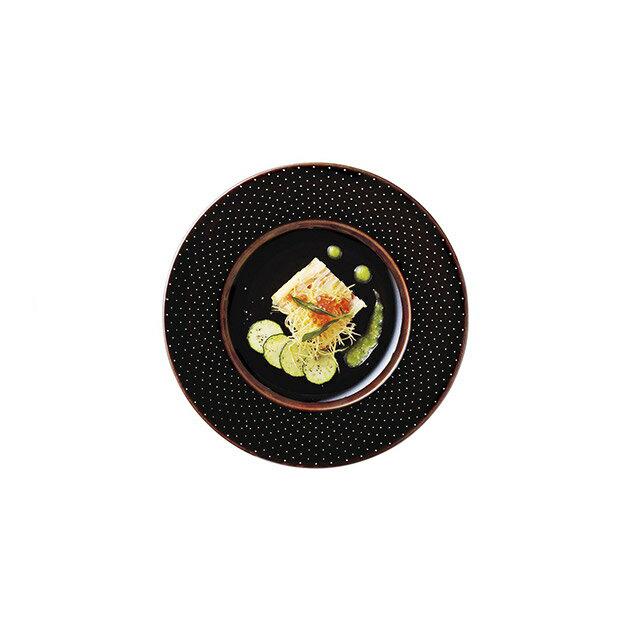 【送料無料】ディナー皿 27cm アメ 6枚 カネスズ ドット(37222402)