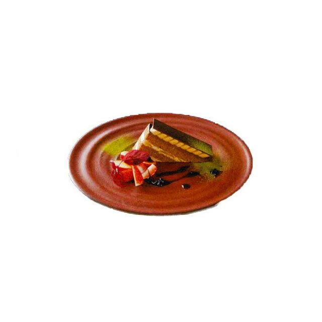 カネスズ ディナープレート波紋 27cmディナー(緋朱)(6枚セット) (12-58260402)