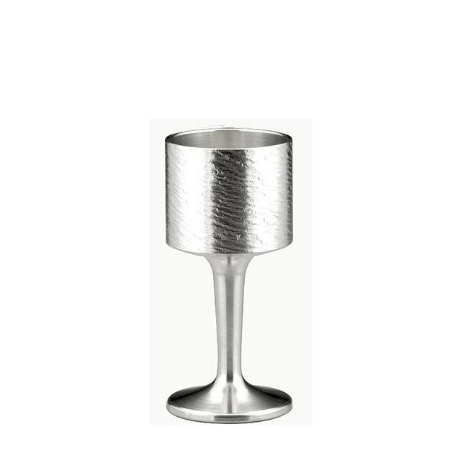 大阪錫器 ワインカップ さざなみ(18-6-1) (和風 迎春 ハンドメイド)(伝統)(工芸)(日本製)(送料無料)(ギフト)