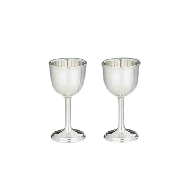 【送料無料】大阪錫器 ワインカップ(小)ペア(18-8-2)和風 迎春 ハンドメイド 伝統 工芸 日本製 ギフト