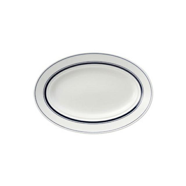 【送料無料】コーヨー カントリーサイド 26.5cmプラター ネイビーブルー 6枚セット (344148-6P) [洋食器][業務用 食器]