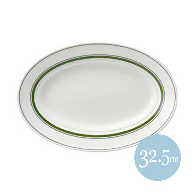 【送料無料】カントリーサイド 32.5cmプラター モスグリーン 6枚セット KOYO コーヨー(13427042)業務用(洋食器)(食器)
