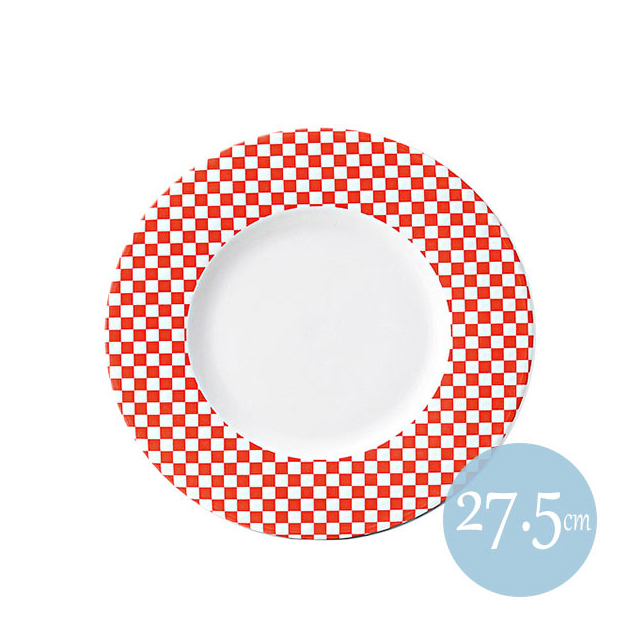 【送料無料】 トレーセ 27.5cmリムプレート レッド 6枚セット KOYO コーヨー(18047002)(プレート 皿)()業務用
