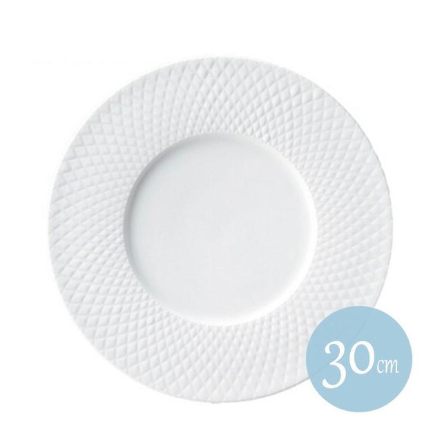 【送料無料】クーラント 30cmサービングプレート ホワイト 6枚セット KOYO コーヨー(18000690)(プレート 皿)(洋食器)業務用
