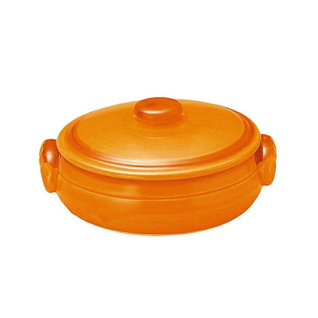 【送料無料】コーヨー クジーネ グロス オレンジ 21cm キャセロール 6枚セット (996475-6P) [洋食器][業務用 食器]