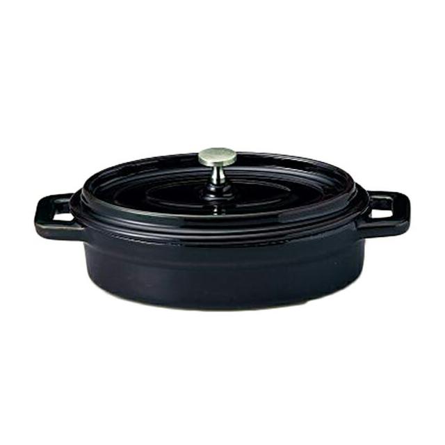 【送料無料】コーヨー 鉄製ココット(ホーロー仕上) ブラック 21.5cm 6個セット (S995308-6P) [洋食器][業務用 食器]