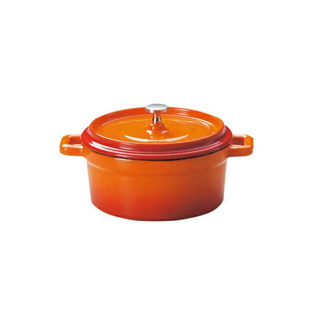 【送料無料】鉄製ココット/ホーロー仕上 ベイクオレンジ 13cm 6個セット KOYO コーヨー(S9954003)業務用(ホーロー)(オレンジ)