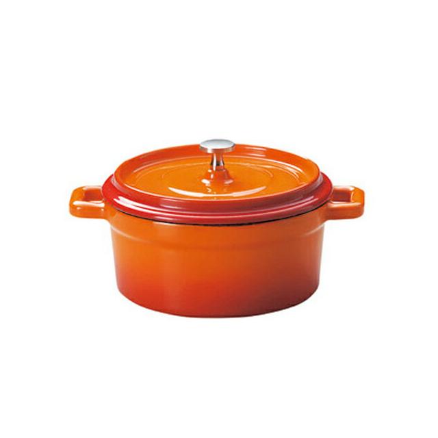 鉄製ココット/ホーロー仕上 ベイクオレンジ 16.5cm 6個セット KOYO コーヨー(S9954004)(業務用)(送料無料)(ホーロー)(オレンジ)