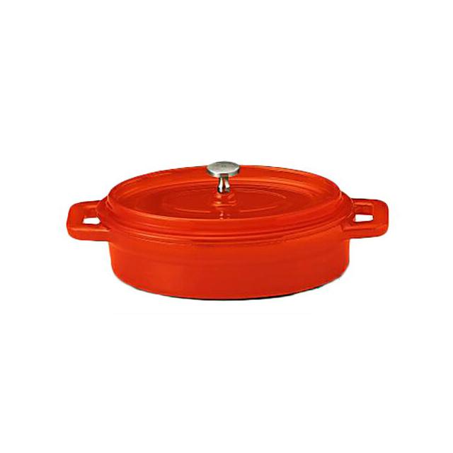 【送料無料】鉄製ココット/ホーロー仕上 ベイクオレンジ 19cm 6個セット KOYO コーヨー(S9954007)業務用(ホーロー)(オレンジ)