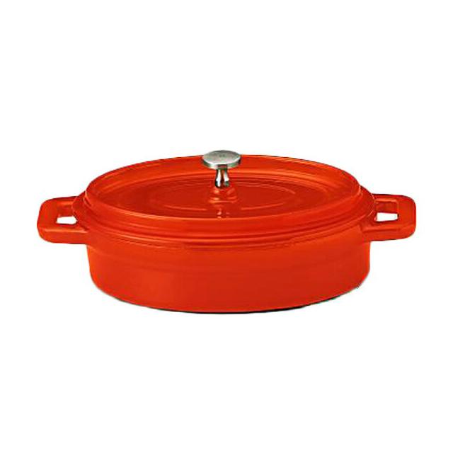 【送料無料】コーヨー 鉄製ココット(ホーロー仕上) ベイクオレンジ 21.5cm 6個セット (S995408-6P) [洋食器][業務用 食器]