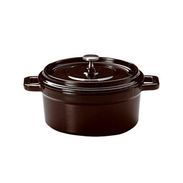 【送料無料】コーヨー 鉄製ココット(ホーロー仕上) ブラウン 18cm 6個セット (S995605-6P) [洋食器][業務用 食器]