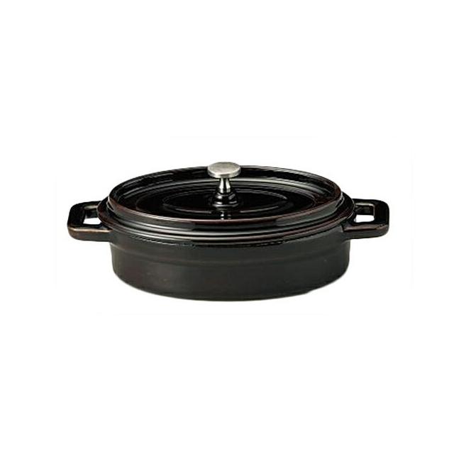 【送料無料】コーヨー 鉄製ココット(ホーロー仕上) ブラウン 19cm 6個セット (S995607-6P) [洋食器][業務用 食器]