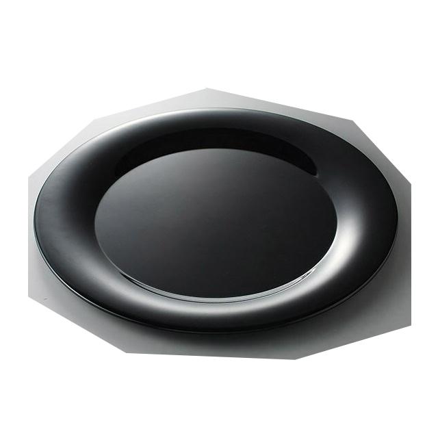 【送料無料】 カーライル パレットデザイナー ワイドリムラウンドプラター ブラック 4個入(CR-3545)CARLISLE 割れない食器 プレート お皿