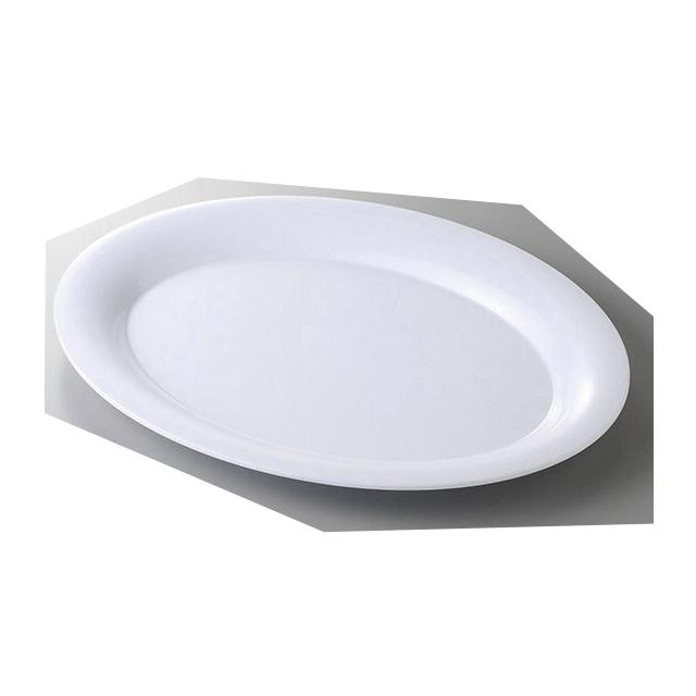 【送料無料】 カーライル パレットデザイナー ワイドリムオーバルプラター 43cm ホワイト 4個入(CR-3546)CARLISLE 割れない食器 プレート お皿