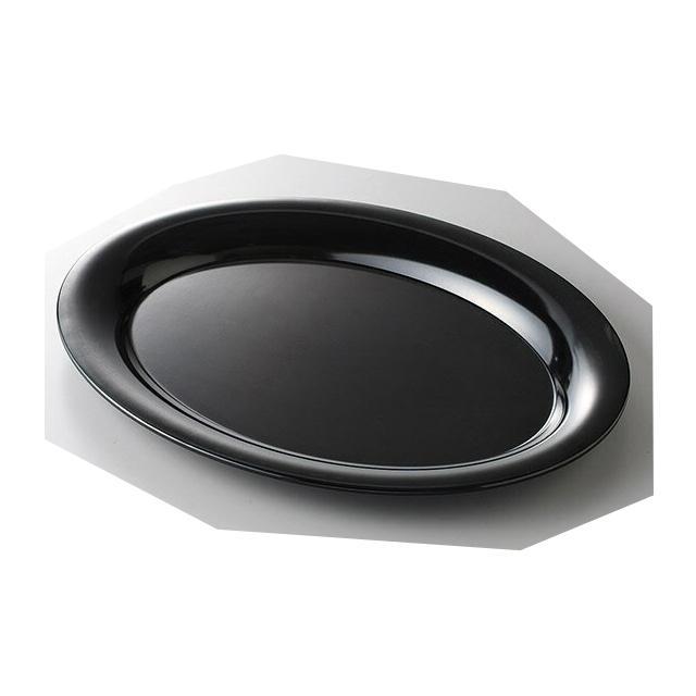 カーライル パレットデザイナー ワイドリムオーバルプラター 43cm (ブラック) 4個セット (CR-3547) (CARLISLE 割れない食器 プレート お皿)(業務用 食器)(送料無料)