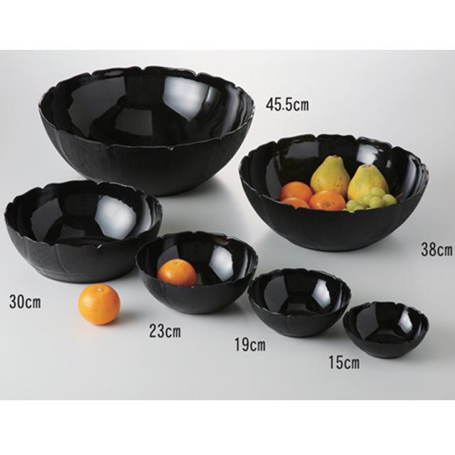 【送料無料】カーライル ペタルミスト ボール 45.5cm(ブラック)4個セット(CR-3598)CARLISLE 割れない食器 プレート お皿