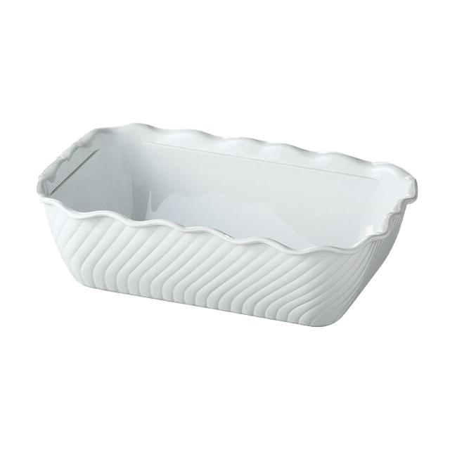 カーライル チューリップデリ クロック (ホワイト) 6個セット (CR-3604) (CARLISLE 割れない食器 プレート お皿)(業務用 食器)