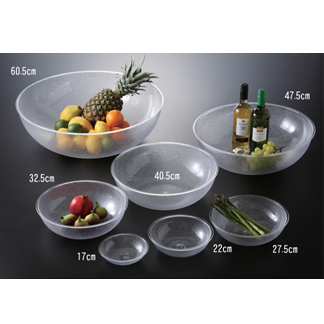 【送料無料】カーライル ペブル ラウンドボール 27.5cm(クリア)12個セット(CR-3627)CARLISLE 割れない食器 プレート お皿