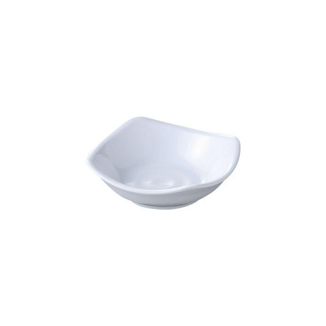 【送料無料】カーライル スクープ スクウェアディッシュ 9cm(ホワイト)48個セット(CR-3637)CARLISLE 割れない食器 プレート お皿
