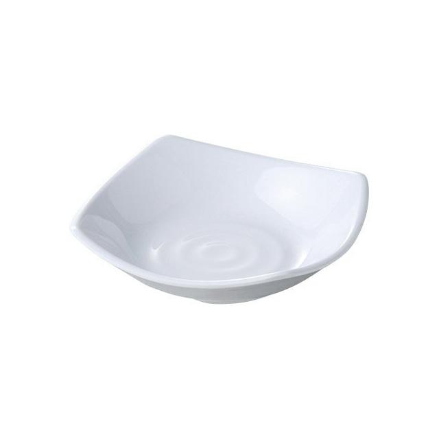 【送料無料】カーライル スクープ スクウェアディッシュ 13.5cm (ホワイト) 48個セット (CR-3639) [CARLISLE 割れない食器 プレート お皿][業務用]
