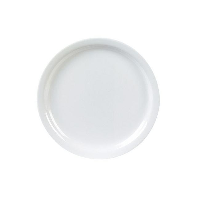 【送料無料】カーライル キングライン ディナープレート 25.5cm (ホワイト) 48個セット (CR-3648) [CARLISLE 割れない食器 プレート お皿][業務用 食器]
