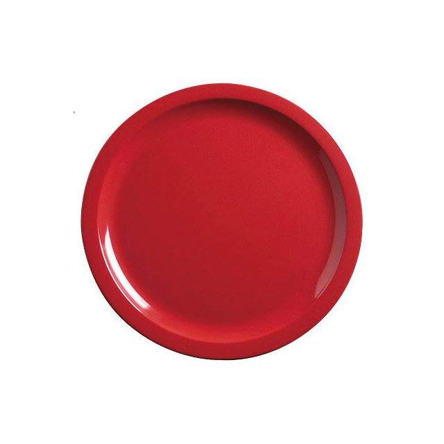 【送料無料】カーライル キングライン ディナープレート 22.5cm(レッド)48個セット(CR-3653)CARLISLE 割れない食器 プレート お皿