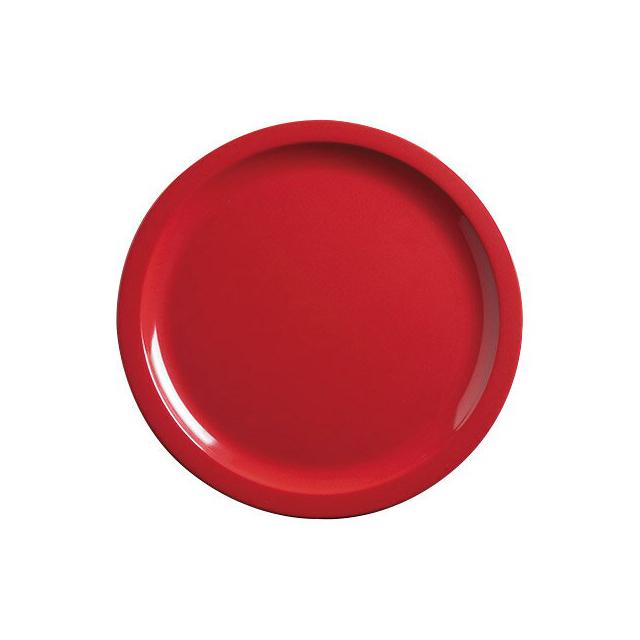 【送料無料】カーライル キングライン サンドウィッチプレート(レッド)48個セット(CR-3656)CARLISLE 割れない食器 プレート お皿