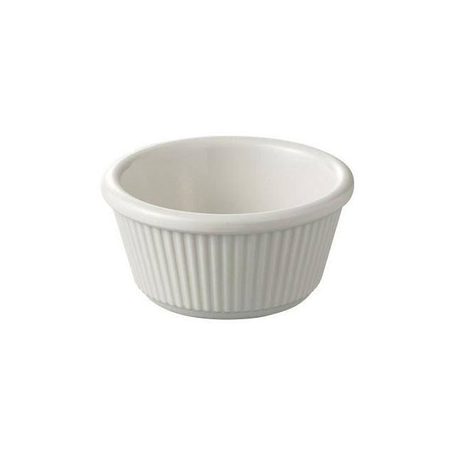 【送料無料】カーライル R&S フルーテッドラメキン2oz(ボーン)48個セット(CR-3661)(CARLISLE 割れない食器 お皿)( 業務用 食器)