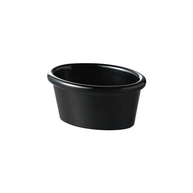 【送料無料】カーライル R&S オーバルラメキン3oz(ブラック)48個セット(CR-3671)(CARLISLE 割れない食器 お皿)( 業務用 食器)