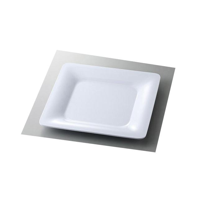 【送料無料】カーライル パレットデザイナー ワイドリムスクウェアプレート (ホワイト) 4個セット (CR-3680) [CARLISLE 割れない食器 プレート お皿][業務用 食器]