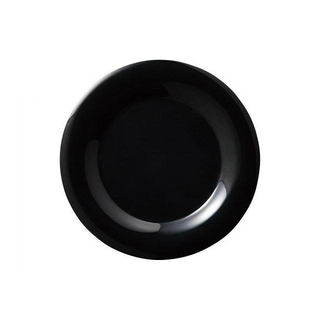 【送料無料】カーライル シーラスワイド パイプレート 16.5cm (ブラック) 48個セット (CR-3736) [CARLISLE 割れない食器 プレート お皿][業務用 食器]