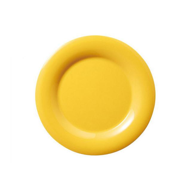 【送料無料】カーライル シーラスワイド パイプレート 16.5cm (ハニーイエロー) 48個セット (CR-3740) [CARLISLE 割れない食器 プレート お皿][業務用 食器]