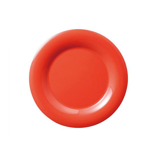 【送料無料】カーライル シーラスワイド パイプレート 16.5cm (サンセットオレンジ) 48個セット (CR-3742) [CARLISLE 割れない食器 プレート お皿][業務用 食器]