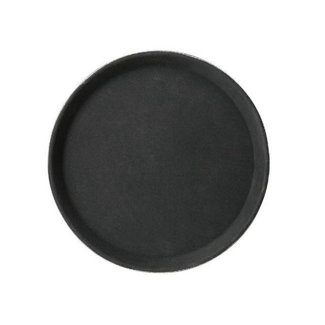 【送料無料】カーライル TBグリップ ラウンドトレー 28cm ブラック 12個入(CR-4030)CARLISLE 割れない食器 トレー お盆 サービストレー