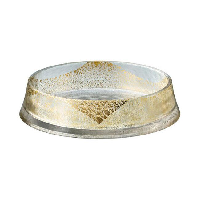 【送料無料】グラッセ リバーシブルプレート210 金箔付き 東洋佐々木ガラス(46404G)
