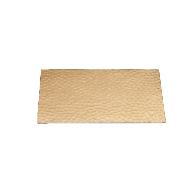 【送料無料】食器皿 槌目レクタングルプレート 金(I2-004-01)(和美作日)(wabisabi)業務用