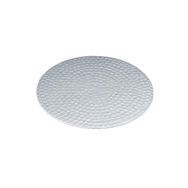 【送料無料】食器皿 槌目サークルプレート 銀(I2-004-06)(和美作日)(wabisabi)業務用