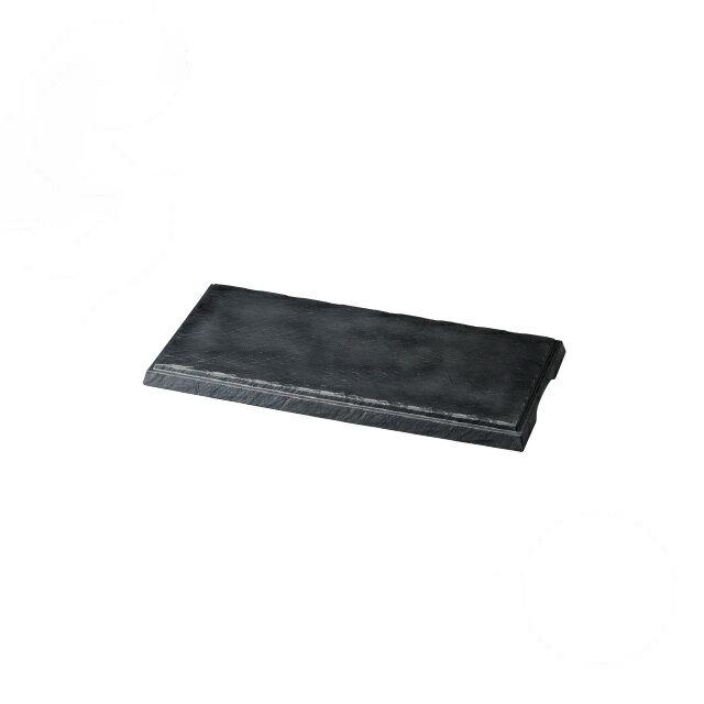 【送料無料】食器皿 匠釉ディスプレイプレート 墨黒 50×25(I2-029-04)(和美作日)(wabisabi)業務用