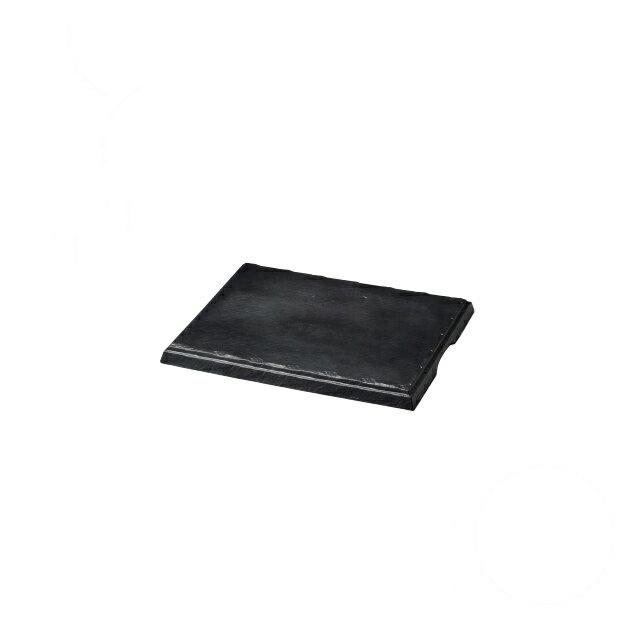 【送料無料】食器皿 匠釉ディスプレイプレート 墨黒 42×34(I2-030-02)(和美作日)(wabisabi)業務用