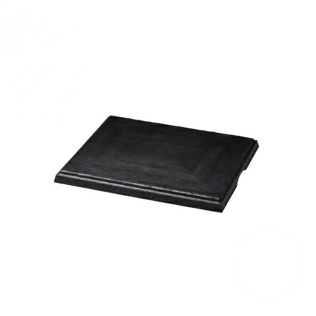 【送料無料】食器皿 匠釉ディスプレイプレート 墨黒 50×42(I2-030-03)(和美作日)(wabisabi)業務用