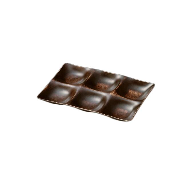 シックスプレート 白木レトロ木目 3個セット(I2-047-01)(和美作日)(wabisabi)(業務用)