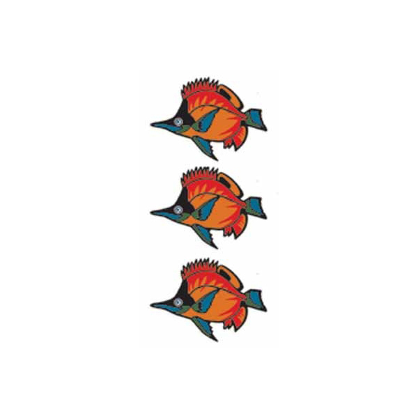 타토우 씰 열대어 2 타트시르보디페이스 TATOO 문신 문신 페이크첩루타와 -능